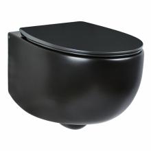 Унитаз подвесной безободковый AeT DOT 2.0 WC черный матовый S555T0R0V6105 с сиденьем микролифт