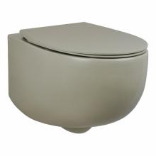 Унитаз подвесной безободковый AeT DOT 2.0 WC бежевый матовый S555T0R0V6131 с сиденьем микролифт