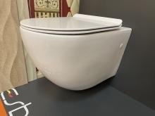 Унитаз подвесной безободковый ESBANO GARCIA белый с сиденьем Микролифт