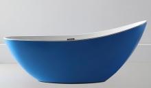 Акриловая ванна ABBER AB9233DB синяя
