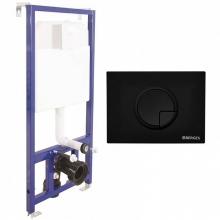 Система инсталляции для унитазов Berges Wasserhaus Novum 040225 R5 с черной кнопкой смыва Soft Touch