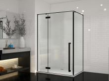 Душевой уголок прямоугольный Cerutti Spa C1 nero 120x90x195 см профиль черный стекло прозрачное