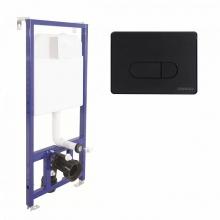 Система инсталляции для унитазов Berges Wasserhaus Novum 040235 D5 с черной кнопкой смыва Soft Touch