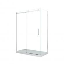 Душевой уголок прямоугольный Cerutti Spa Cezares 120x90x195 см профиль хром стекло прозрачное
