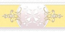 Бордюр Ceramique Imperiale Ирисы 05-01-1-92-03-33-312-0 желтый
