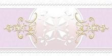 Бордюр Ceramique Imperiale Ирисы 05-01-1-92-03-57-312-0 сиреневый