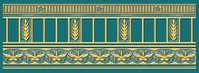 Бордюр Ceramique Imperiale Воспоминание 05-01-1-93-03-72-885-0 бирюзовый