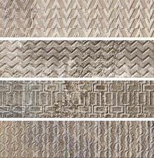 Плитка настенная Gayafores Brickbold Deco Ocre 8,15x33,15