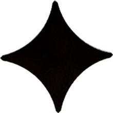 Вставка Gracia Ceramica Stella Black 02 11x11
