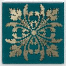Вставка Kerama Marazzi Клемансо 4,9х4,9 зеленая темная