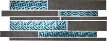 Мозаика Naxos Ceramica Raku Brick Black Clay 25,9x60,2