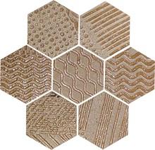 Декор Naxos Ceramica Raku Esagona Copper 35,5x37