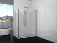 Душевой уголок прямоугольный Cerutti Spa Premiata 120-6 120x80x195 см профиль хром стекло прозрачное