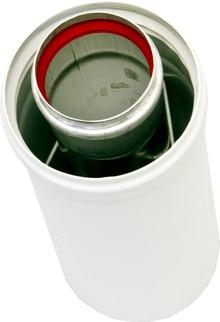 Дымоход Ariston 3318007 удлинение 60/100 мм (высота: 0,25 м), с центрирующей пружиной