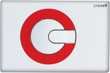 Кнопка смыва Creavit Power GP5001.01 бело-красная