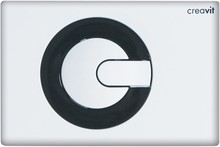 Кнопка смыва Creavit Power GP5001.02 бело-черная