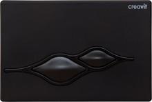 Кнопка смыва Creavit Ufo GP1002.02 черный глянцевый