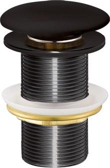 Донный клапан для раковины Creavit SF032-S без перелива, черный