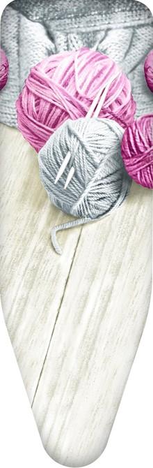 Чехол для гладильной доски Colombo New Scal S.p.A. Клубки пряжи серые с розовым 140х55