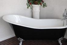 Чугунная ванна Magliezza Gracia Nero 170x76 (ножки золото)