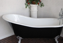 Чугунная ванна Magliezza Gracia Nero 170x76 (ножки хром)
