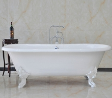 Чугунная ванна Magliezza Patricia 168x76.5 (ножки белые)