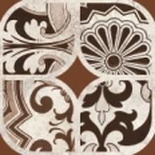Вставка Керамин Майорка 3 9,8x9,8 коричневая